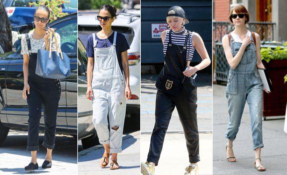 Sokak Modası: Kot Şortlar ve Salopetler / Street Style: Overalls - Hep Moda Magazin