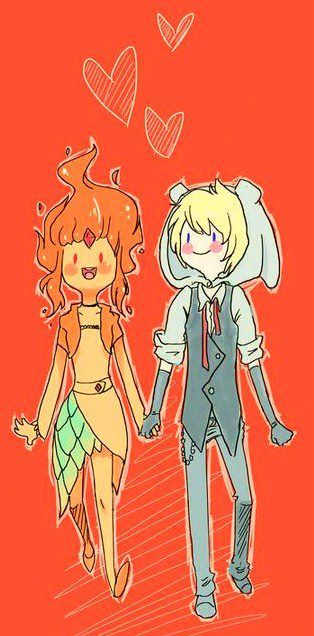 Adventure time - Flame princess & Finn the human