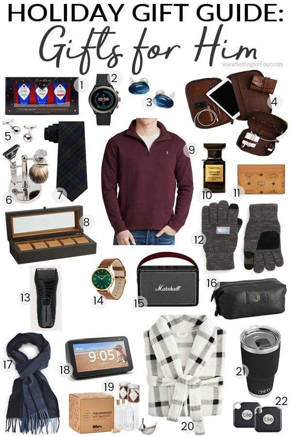 Holiday Gift Guide 2019 Gifts For Him Holiday Gift Guide Gift Guide For Him Mens Gift Guide