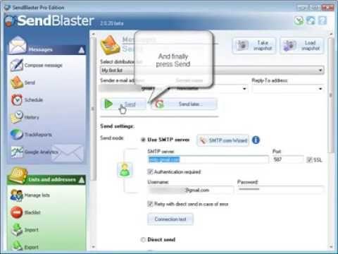 Sendblaster 4 Tutorial | How to Set Up Sendblaster Pro - YouTube