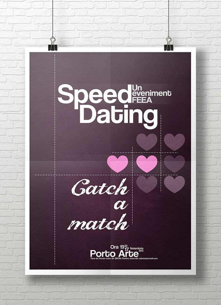 How to organise a speed dating event
