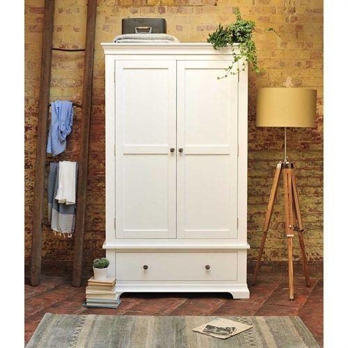 Chantilly White Double Wardrobe Double Wardrobewhite Furniturebedroom