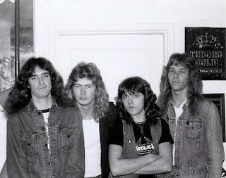 Cliff Burton, Dave Mustaine, Lars Ulrich, James Hethfield - Metallica