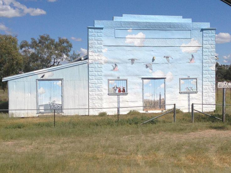 John Murray Mural at Bullarah Hall  200km NE of Lightning Ridge