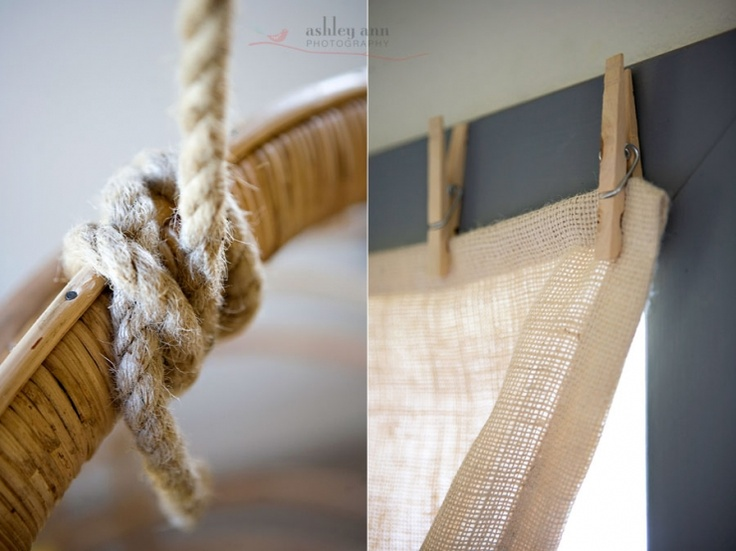 Clothes pin curtain hangers