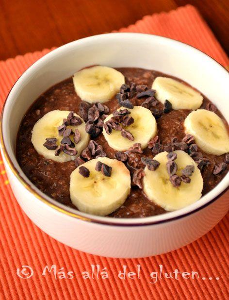 Más allá del gluten...: Desayuno con Semillas de Chía y Hojuelas de Quinua / Avena (Receta GFCFSF, Vegana, RAW)