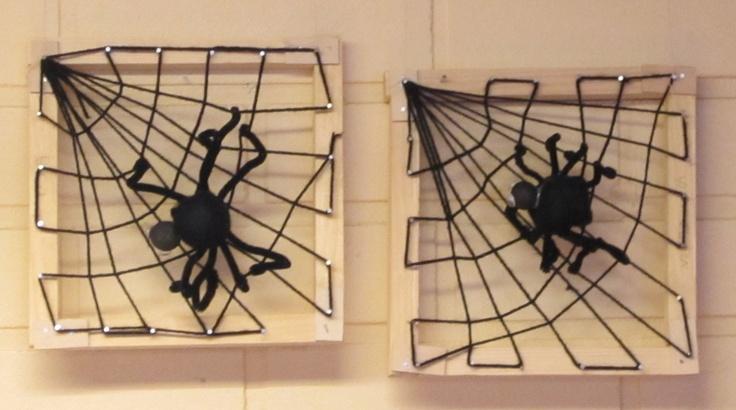 Hämähäkinverkko ja hämähäkki, 1 lk: puutyöluokassa työskentelyä 2 tuntia, hämähäkin teko 2 tuntia ja verkon kutominen 1-2 tuntia.