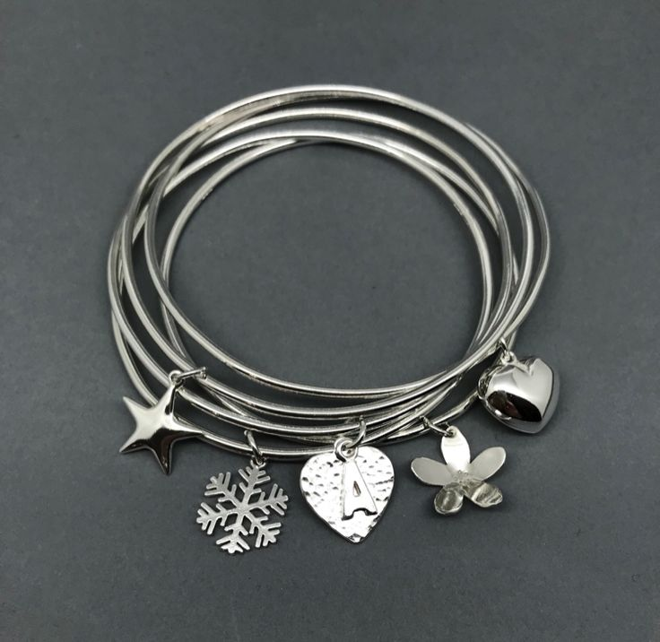 A very special collection of gorgeous affordable handmade silver jewellery. — A one off batch of charm bangles, personalised letter charm pendants, snowflakes, Christmas trees and unique one off designs. All at the lowest prices possible. Please take a look xx