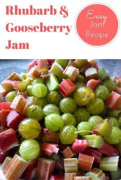Rhubarb and Gooseberry Jam Recipe. This is a Rhubarb and Gooseberry fruity jam. An easy to make jam recipe using your favourite fruits from the garden. So if you have a Gooseberry Glut or Rhubarb glut and are looking for recipe ideas this homemade jam recipe is perfect. Click the link to visit my blog and full instructions.