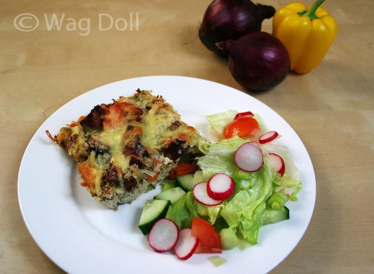 Sausage & Sweet Potato Bake Recipe with secret Ninja veggies! Low GI, low carb and clean eating