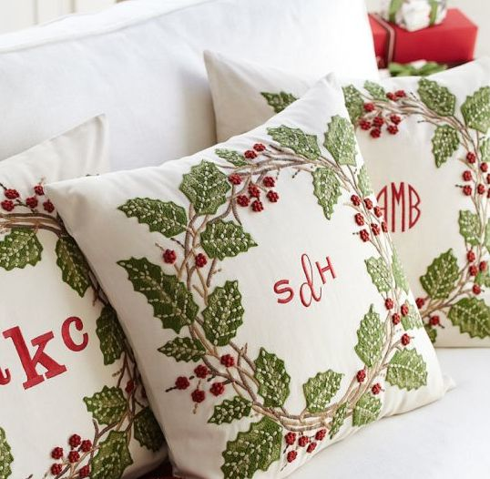 You probably need to order this now! Pottery barn, monogramed,christmas