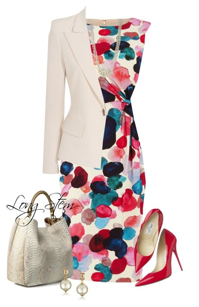 5/04/17 by longstem on Polyvore featuring polyvore fashion style Phase Eight Plein Sud Yves Saint Laurent Kim Rogers Kate Spade Jimmy Choo clothing