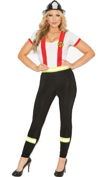 Plus Size Light My Fire Firefighter Costume