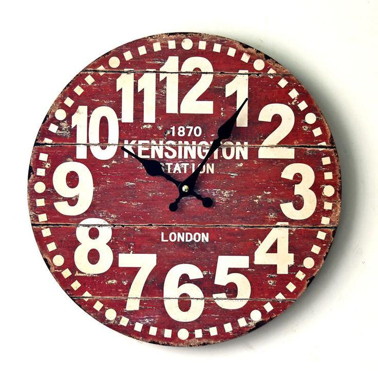 Wall Clock Saat Duvar Saati Reloj Clock Relogio de Parede Horloge Murale Reloj de Pared Wall Clocks Vintage Wood Digital living