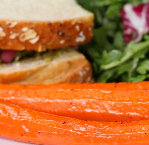 Geröstete Möhren mit Honig | Geil! 4 voll einfache Gemüsebeilagen mit nur 3 Zutaten!
