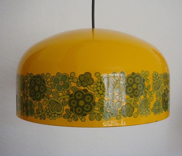 KAJ FRANCK - FOG MORUP - YELLOW ENAMEL CEILING LIGHT by DesignerDeals, via Flickr