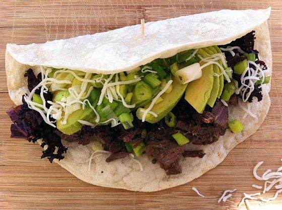 Slow Cooked Elk Round Steak Tacos