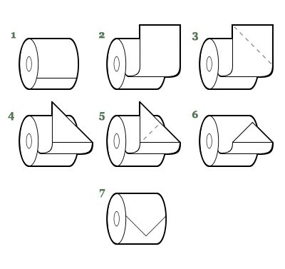 toilet paper origami - arrow