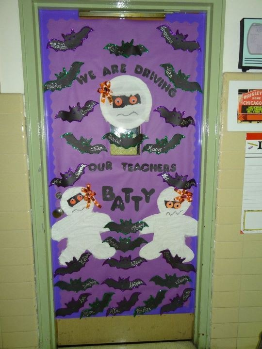 Halloween Classroom Decorations Make ~ Images about halloween teacher doors for trick or