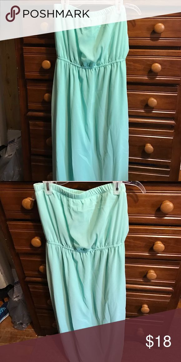 Teal Maxi dress Forever 21 Aqua/teal colored, worn once Forever 21 Dresses Maxi