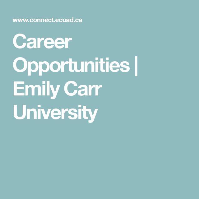 Career Opportunities | Emily Carr University
