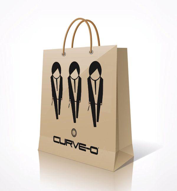 CURVE-O Paper Shopping Bag.