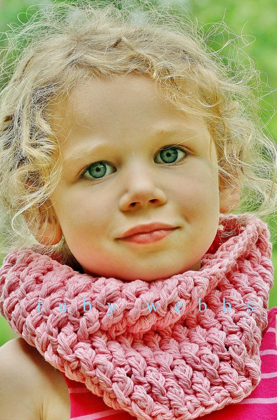 Girls Cowl Neckwarmer in Country Pink  Handmade by rubywebbs, $25.00