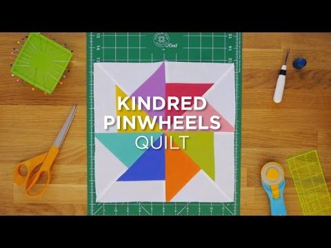 Click here for full tutorial and supplies: http://bit.ly/KindredPinwheelsQS_YT We love Pinwheel blocks and we love the simplicity of precuts, so this mini tutorial demonstrates an easy way to create o