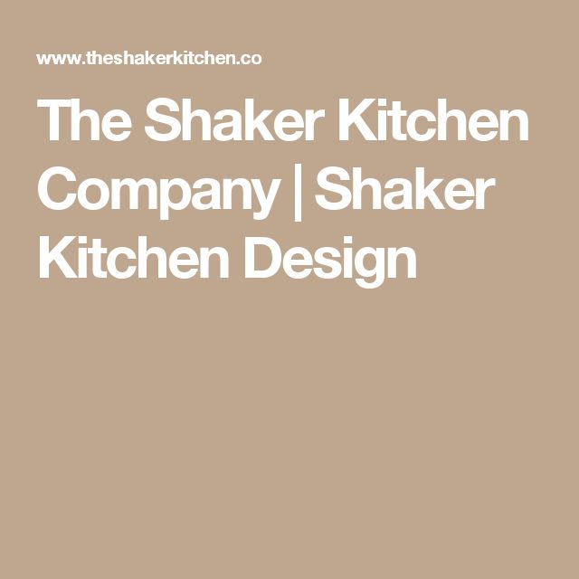 The Shaker Kitchen Company | Shaker Kitchen Design