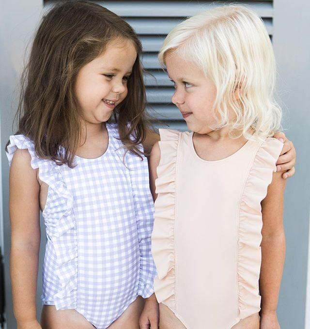 Precious girly swimsuits by Minnow Swim.