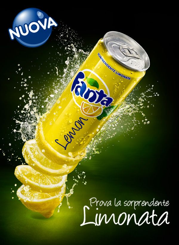 Fanta Lemon by Wolowski and Partners Studio, via Behance