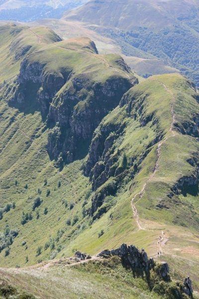 Découvrir l'Auvergne, France: Cantal, le plus grand volcan d'Europe.