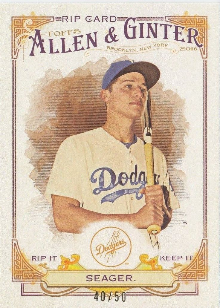 Dodgers Blue Heaven: 2016 Topps Allen & Ginter - The Dodgers Autograph and RIP Cards     **  #RIP-27 Corey Seager