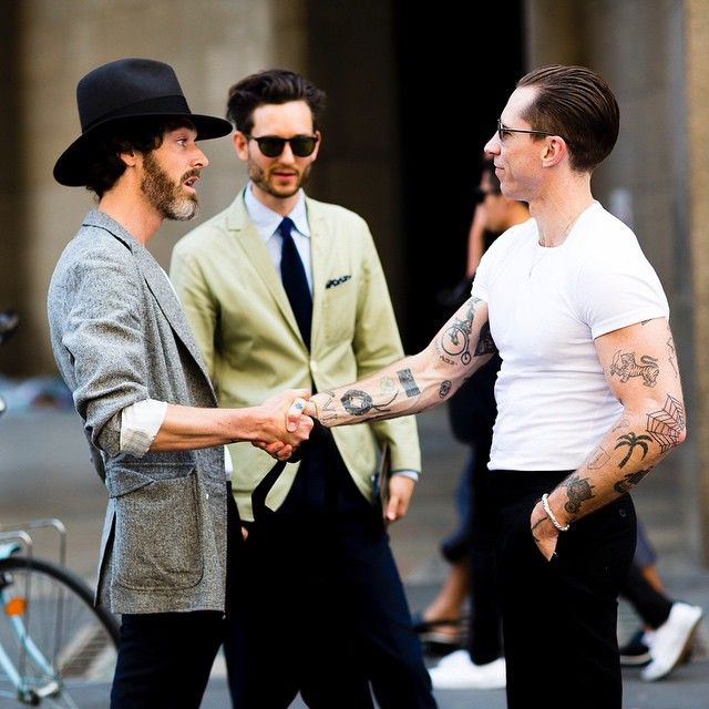 The Boys are in the house. Richard Biedul, Isaac Hindin-Miller and Justin O'Shea during #MMFW #SS16 #catchatrend #streetstyle #fashionweek #milanmensfashionweek