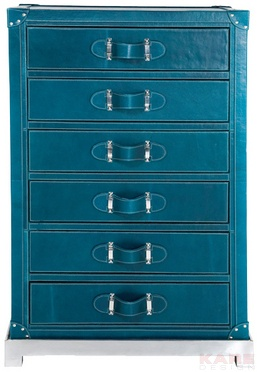 Cabinet Mens World Blue 6 Drw
