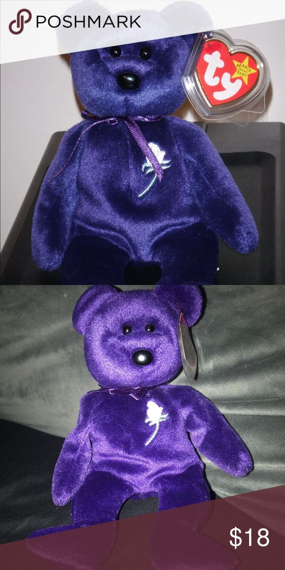 Ty Beanie Baby 1997 Purple princess Diana Rare Rare
