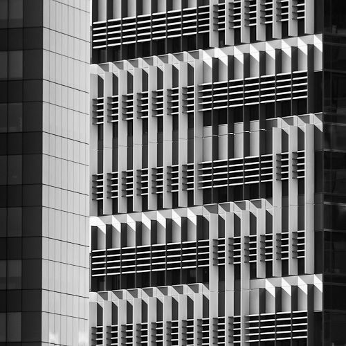 Amazing facade detail on ANZ Centre at Victoria Harbour, Docklands