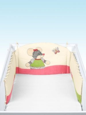 Mouse Cotbed Bumper | Nursery Furniture | Baby Accessories Ireland | Cribs.ie