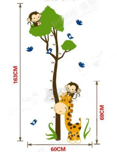 Bestchoice2go(TM) Giraffe Height Measurement Growth Chart Wall Sticker Decals For Children's Bedroom Bestchoice2go,http://www.amazon.com/dp/B00IJRYXYK/ref=cm_sw_r_pi_dp_biyztb10PARTSTM1