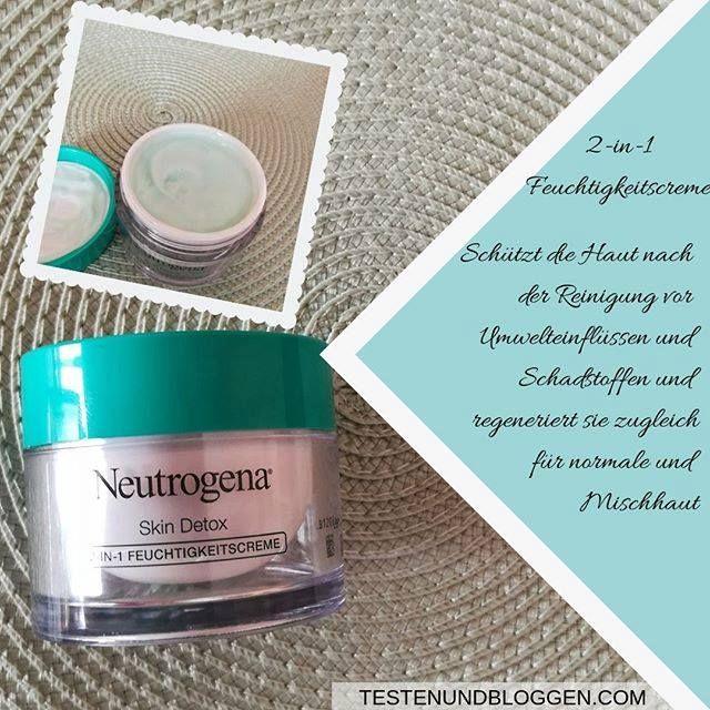 Werbung – Die Feuchtigkeitscreme von Neutrogena SkinDetox fühlt sich angenehm a… – Susi Schraml
