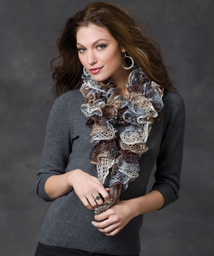 Sashay Ruffle Scarf Knit Pattern : Smoky Swirls Scarf Knitting (Loom) Pinterest Swirls, Scarfs and Yarns