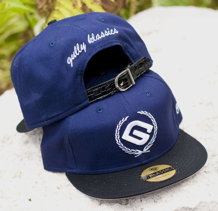 Blue Buckle Back Cap