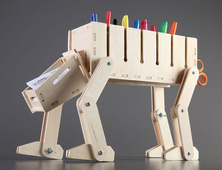 DIY Wooden Desk Organizer ♥ | Wood Craft | Pinterest | Wooden Desk ...