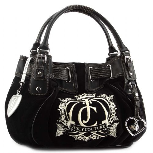 ☆ Juicy Couture - Freestyle Velour Handbag - Black ☆Couture Handbaglov, Juicy Couture, Burberry Handbags, Chanel Totes, Chic Handbags, Couture Handbags Lov, Velour Handbags, Black, Freestyle Velour