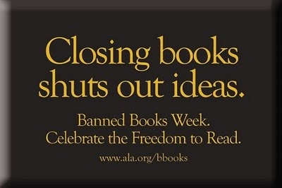 Banned Books Week library display banning books also perpetuates stupid and…