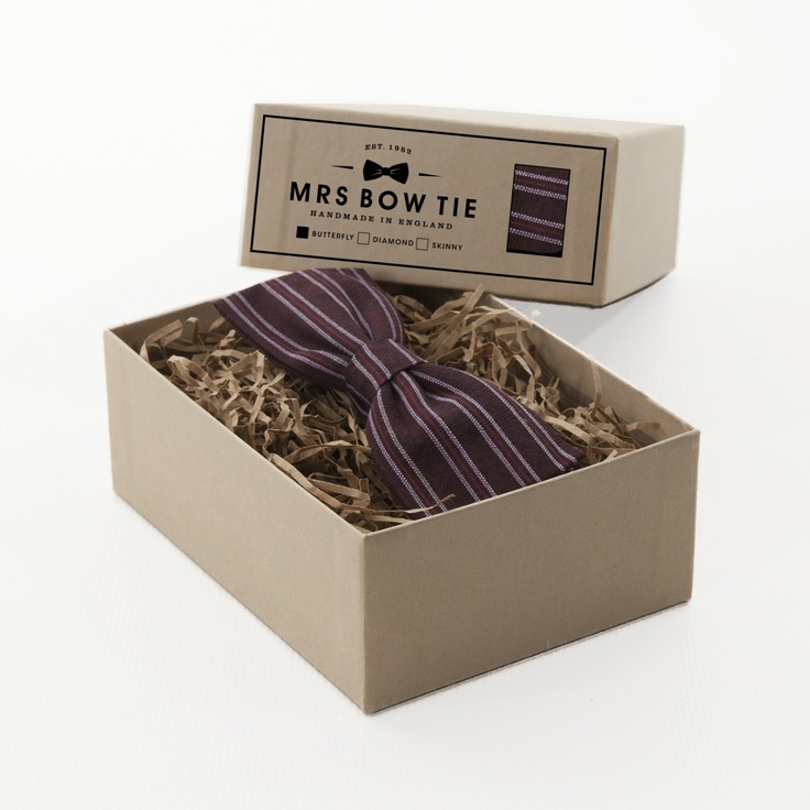 Fair Trade Brown Horizontal Stripe - Mrs Bow Tie
