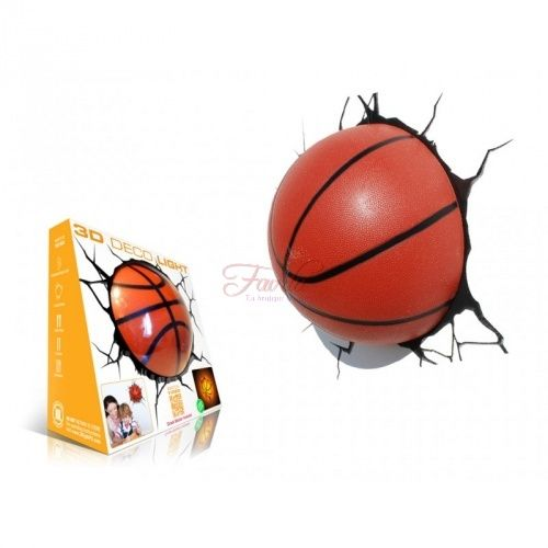 Pallone Basket 3D FX Deco Light Lampada da muro