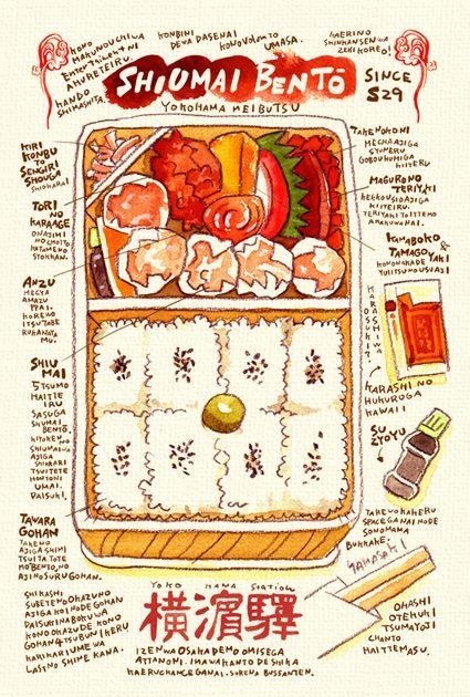 横浜の有名なあそこのシウマイ弁当の画像:週間山崎絵日和