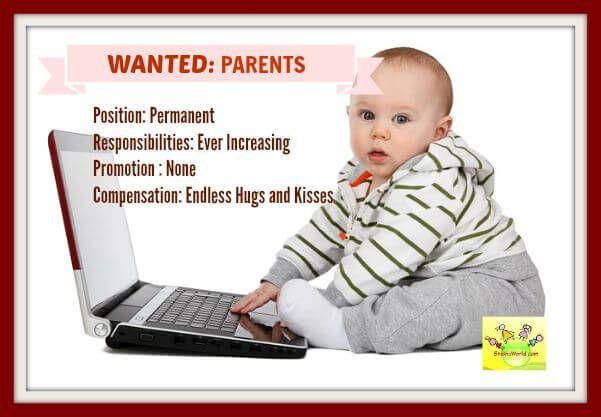 If parenting was a regular job? - ShishuWorld - Indian Website for Parents, Mom Blog, Parenting tips, Pregnancy care