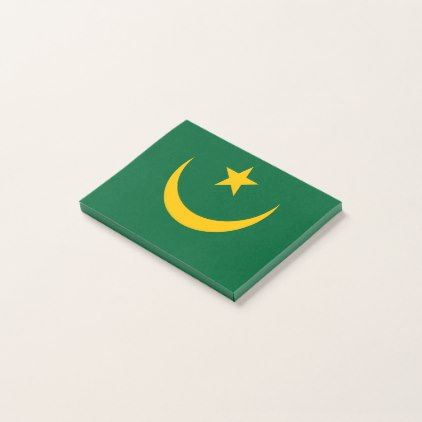 #Mauritania Flag Post-it Notes - #office #gifts #giftideas #business